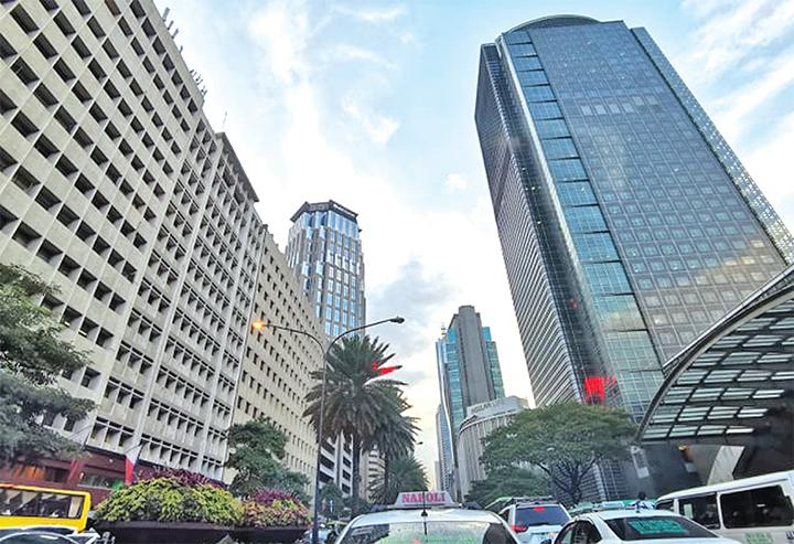 Buildings tower above Ayala Avenue in Makati's central business district in this file photo. (Photo from BusinessMirror)